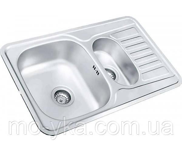 Кухонная мойка из нержавеющей стали COL 780.480.15(декор)