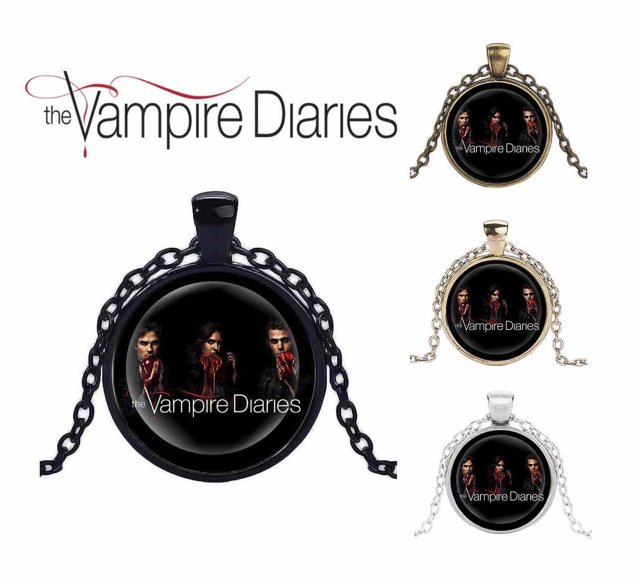Кулон Дневники Вампира Vampire Diaries с логотипом