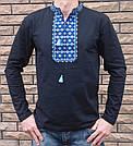Вышитая мужская футболка орнамент длинный рукав