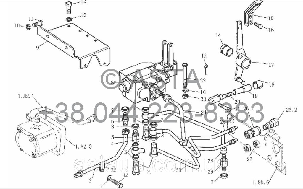 Клапан управления (опция) на YTO X804
