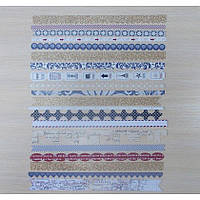 Вырубки полоски Teresa Collins - Far and Away - Border Strips with Glitter Accents, FA1011