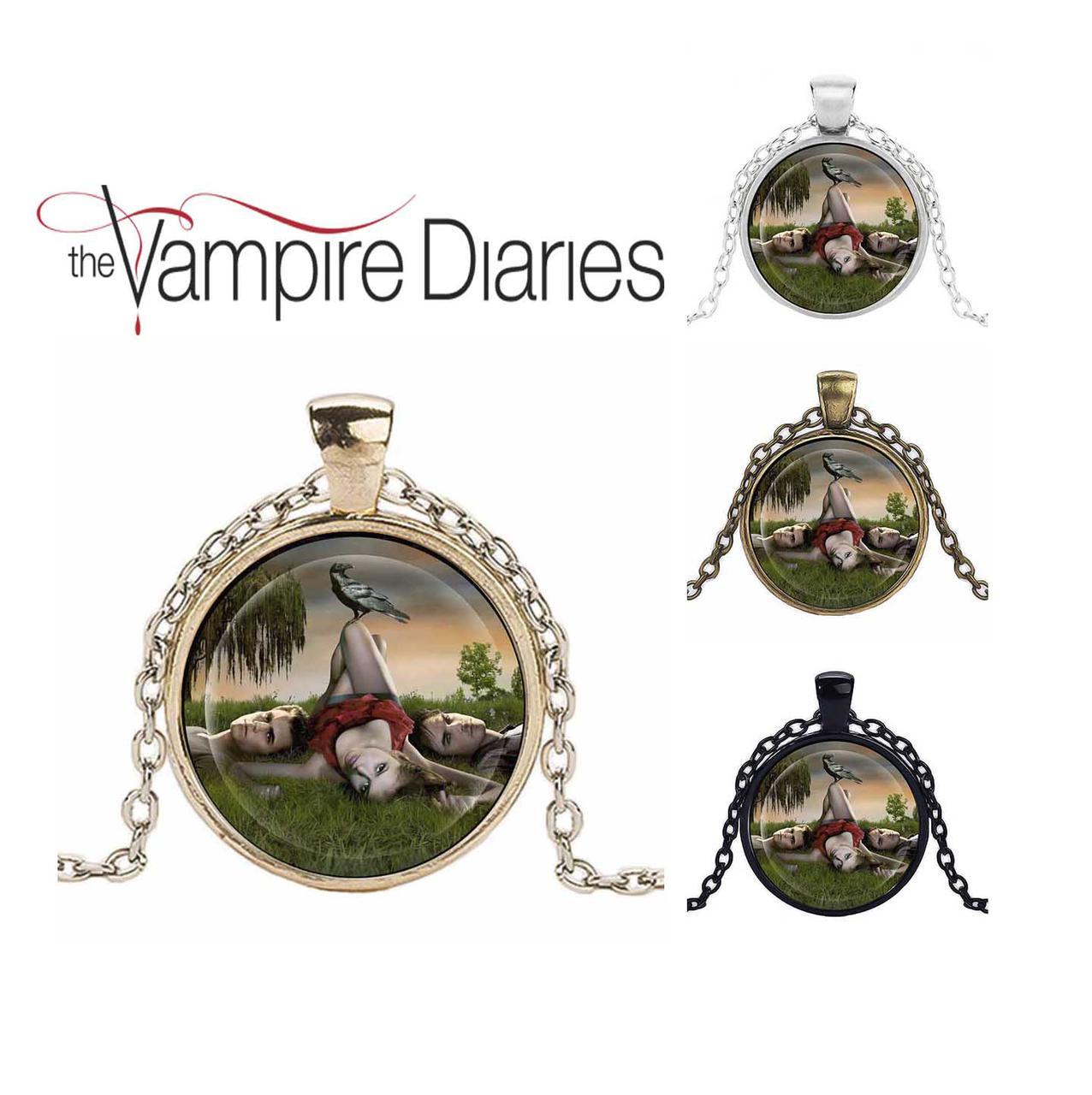 Кулон Дневники Вампира Vampire Diaries Елена, Стефан и Деймон