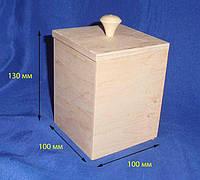Короб емкость для сыпучих 10х10х13 см Фанера заготовка для декора