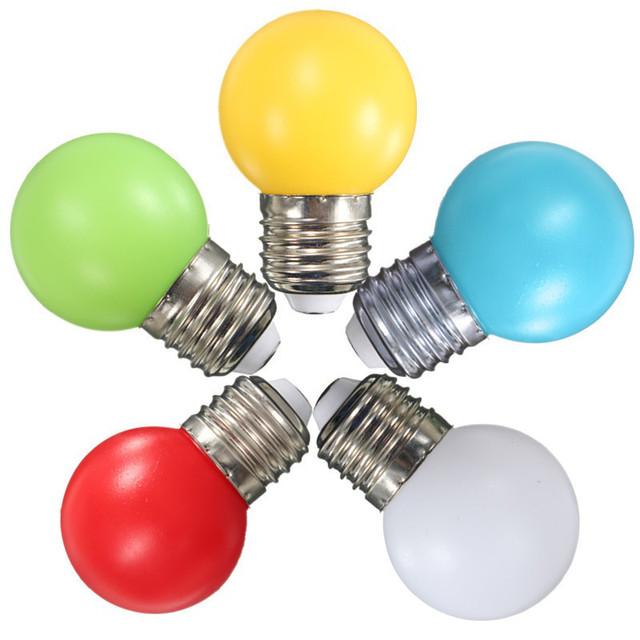 Цветные светодиодные лампочки
