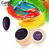 Гель-краска Canni №590 (темный баклажан) 5 мл