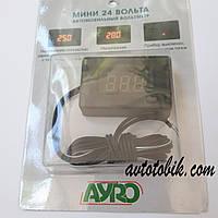 Цифровой автомобильный вольтметр МИНИ 24V AYRO, фото 1
