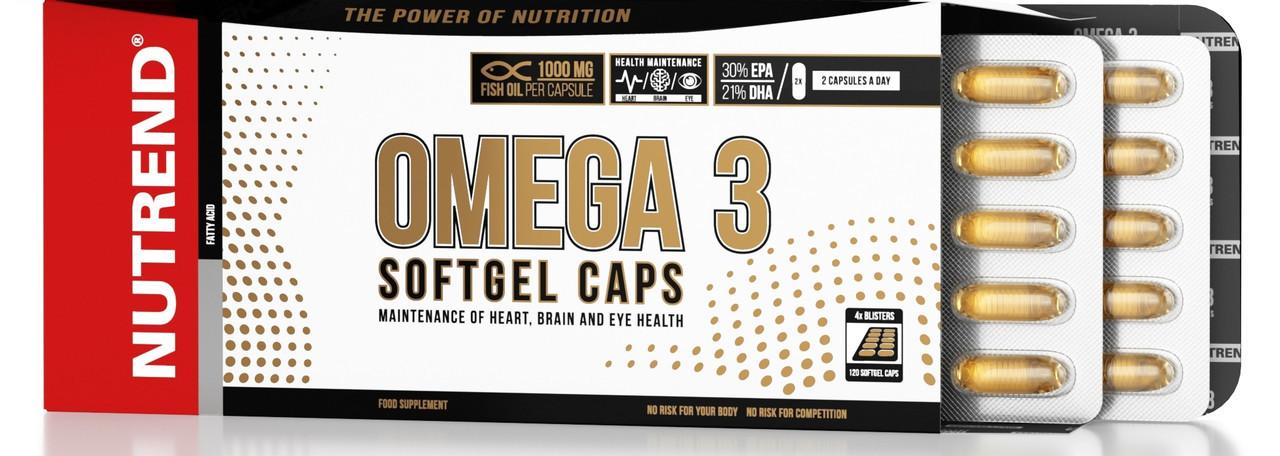 Рыбий жир Nutrend Omega 3 Softgel Caps 120 caps