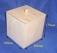 Короб емкость для сыпучих 16х16х17 см Фанера заготовка для декора