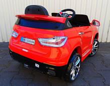 Детский электромобиль BMW X6 красный + резиновые EVA колеса + 2 мотора по 35 Ватт, фото 2