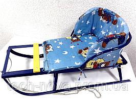 Санки детские СД-97 широкие полозья высокой проходимости (пр-во Украина)