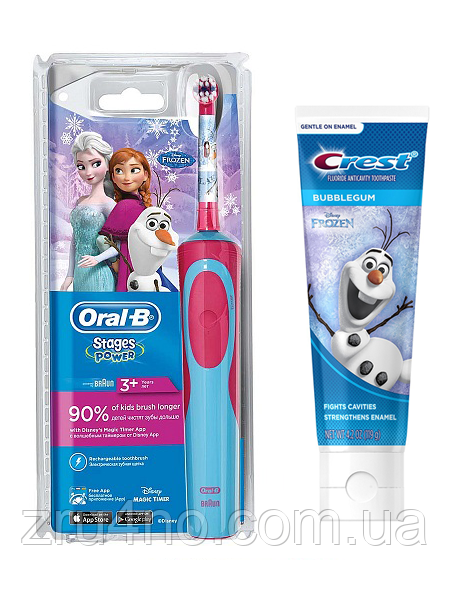 Oral-B D12. 513 Stages Power + паста Crest