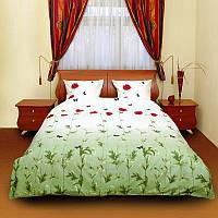 Комплект постельного белья тм ТЕП евро размер Маки зеленые
