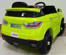 Детский электромобиль BMW X6 салатовый + резиновые EVA колеса + 2 мотора по 35 Ватт, фото 3