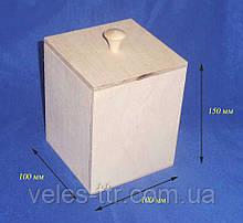 Короб емкость для сыпучих 10х10х15 см Фанера заготовка для декора