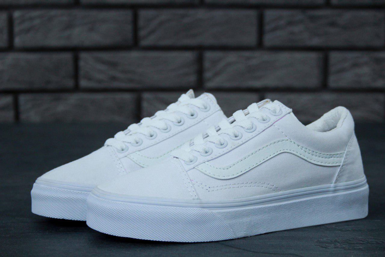 57767ed26eb0 Кеды мужские белые летние стильные Vans Old Skool Full White Ванс Олд Скул  - Bigl.ua