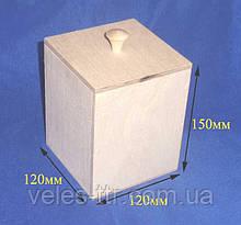 Короб емкость для сыпучих 12х12х15 см Фанера заготовка для декора