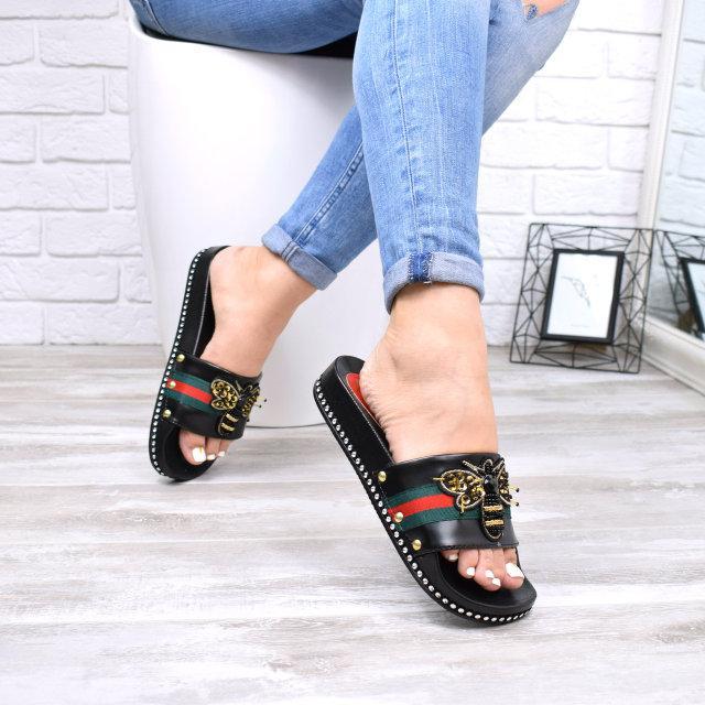 55024efe8 Шлепки женские Gucci черные 5133, шлепки летние: продажа, цена в ...
