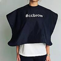Пеньюар CC Brow, длина 45 см, черный, нейлон