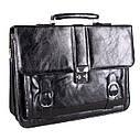 Мужской портфель из искусственной кожи 302988 черный, фото 2