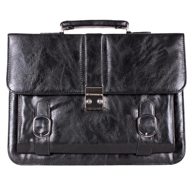 Мужской портфель из искусственной кожи 302988 черный
