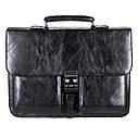 Мужской портфель из искусственной кожи 302974 черный, фото 2
