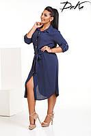 Платье рубашка №р4128.1 (ДГ)