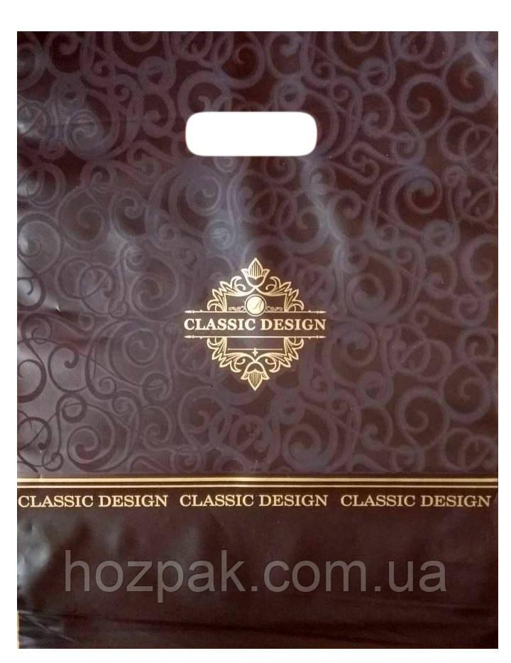 """Пакеты полиэтиленовые типа банан """"Classic Design"""" коричневый  28х37 25 шт"""