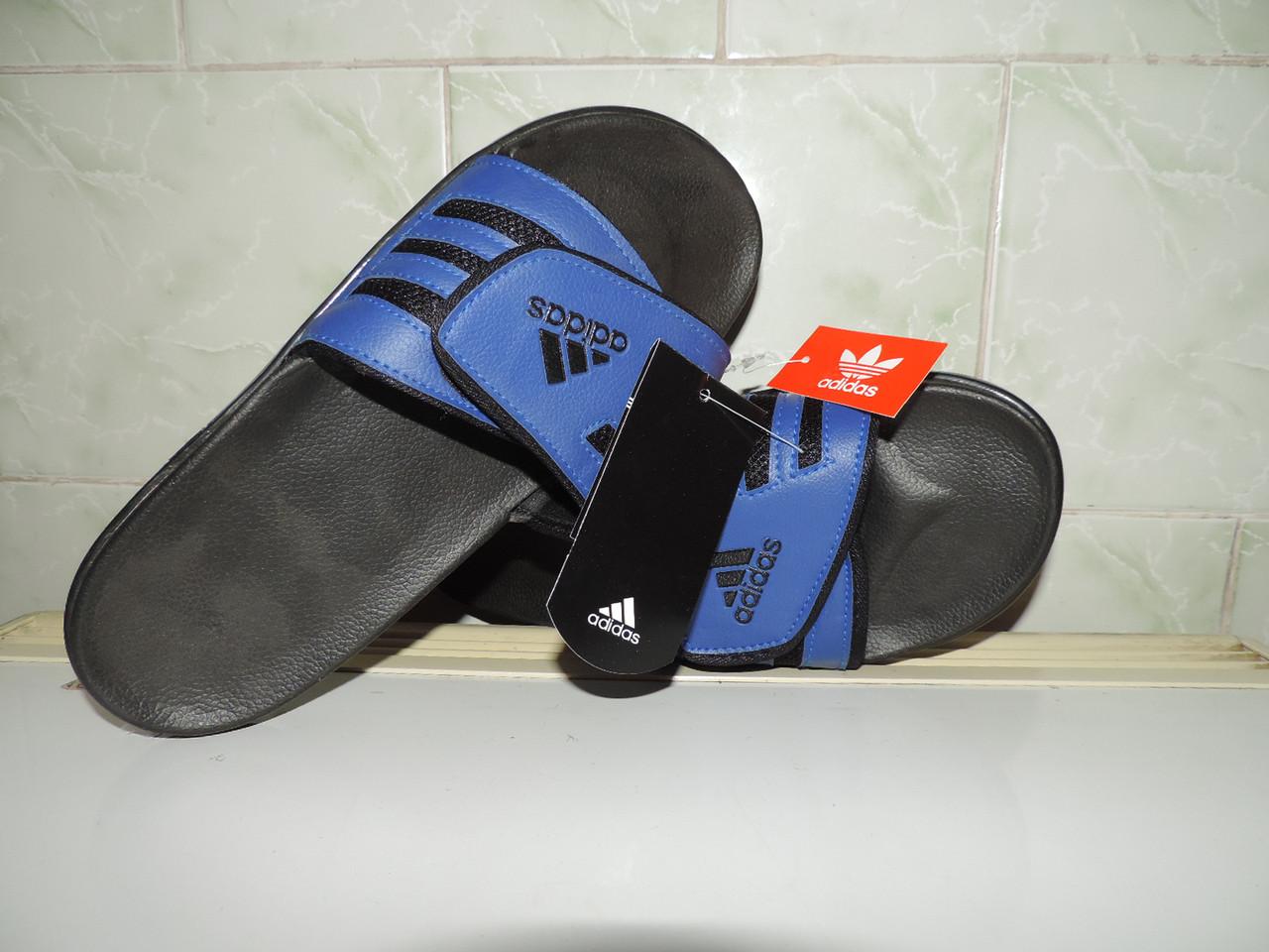 """Сланцы мужские Adidas Velcro® Slide. Застежка """"Велкро"""". Реплика"""