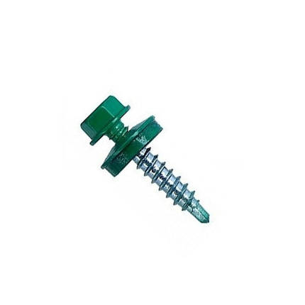 Саморез кровельный по металлу 4.8х19 RAL 6005 (Зеленый), фото 2
