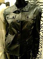 Куртка женская кожаная, на пуговицах, фото 1