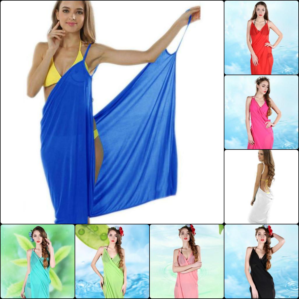 Пляжное женское парео-платье, одевается на руки, размер универсальный,