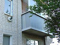 Пластиковий балкон з металевим низом , фото 1