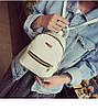 Рюкзак женский миниатюрный с горизонтальным замком (белый)