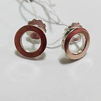 Серьги-вкрутки Нимб из серебра и золота, фото 1