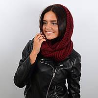 Шарф-хомут женский Sofi 60% шерсть (65 х 40 см) Бордовый (HM17007)