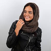 Шарф-хомут женский Sofi 60% шерсть (65 х 40 см) Коричневый (HM17007)