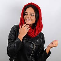 Шарф-хомут женский Sofi 60% шерсть (65 х 40 см) Красный (HM17007)