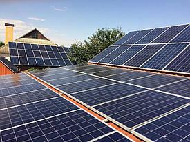Измаил солнечная электростанция сетевая 31 кВт под зеленый тариф Amerisolar + Huawei Одесская обл.