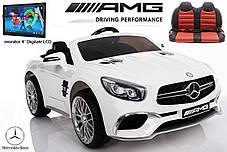 Детский электромобиль Mercedes SL65 белый c Планшетом или Без+ резиновые EVA колеса + Кожа сидение, фото 2