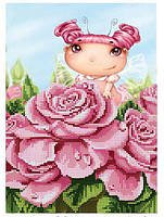 "Схема для вышивки бисером  ""Фея роз"" 018"