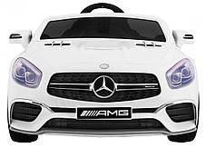 Детский электромобиль Mercedes SL65 белый c Планшетом или Без+ резиновые EVA колеса + Кожа сидение, фото 3