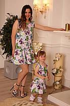 Одинаковые платья с воланом и необычным принтом, фото 2