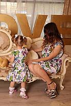 Одинаковые платья с воланом и необычным принтом, фото 3
