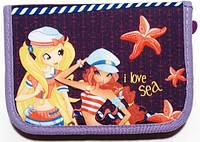 Пенал твердий одне відділення з двома клапанами Smile для дівчинки, дизайни на вибір Вінкс. Море