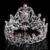 Корона і сережки набір БРАУНІ кругла корона на голову 10 см, фото 3