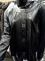 Куртка черная (большие размеры) на кнопках, фото 1