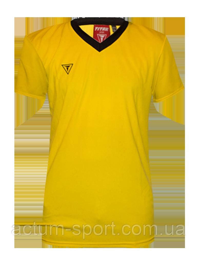 Футболка игровая Universal color Titar Желто/черный, XXL