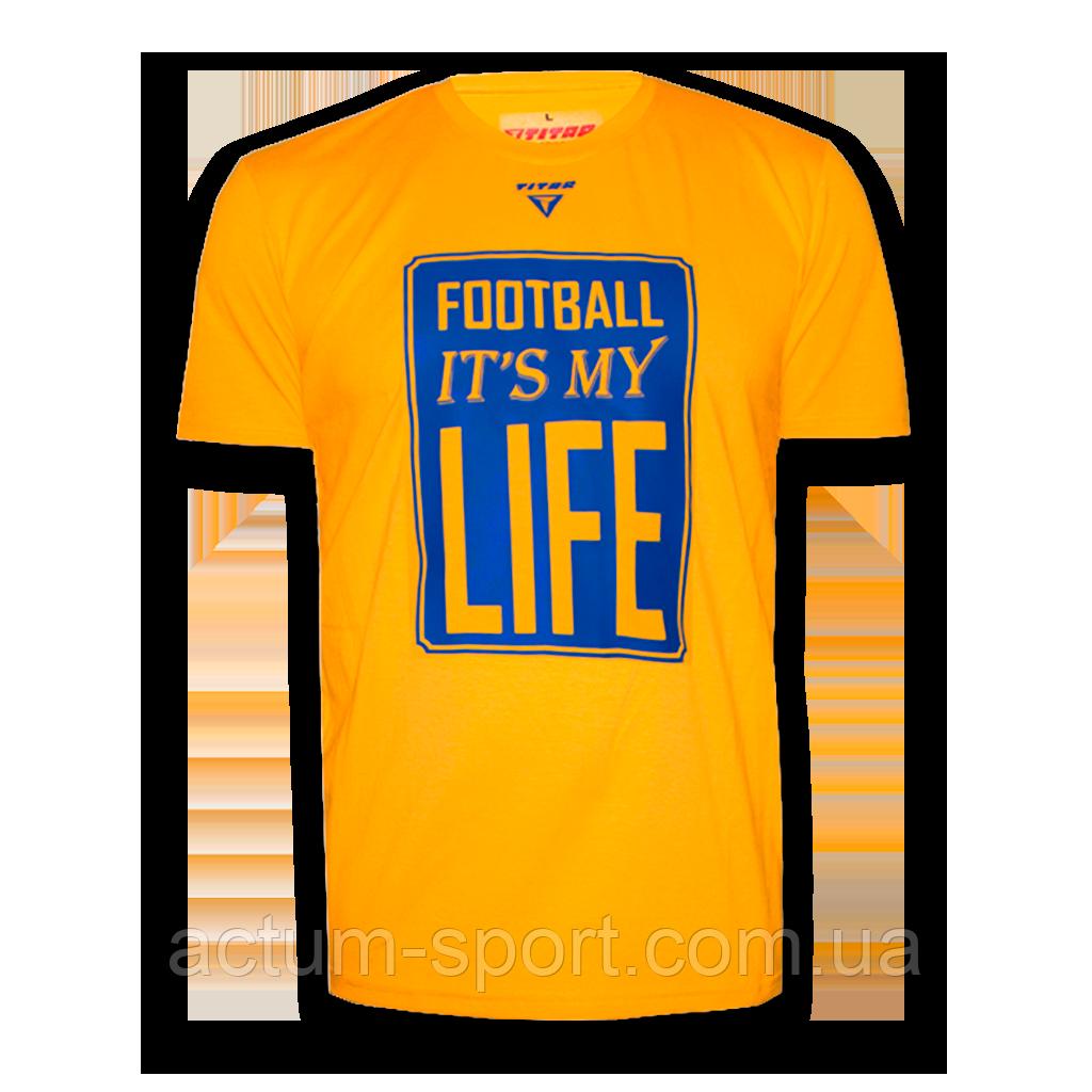 Футболка мужская с принтом FIMLife Titar Желтый, XL