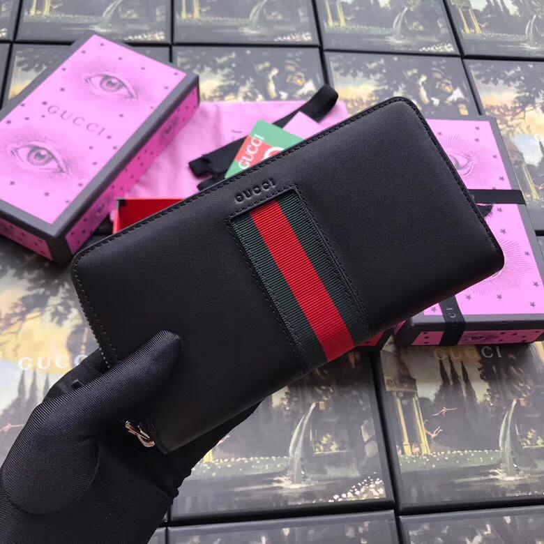 Мужское портмоне из натуральной кожи Gucci