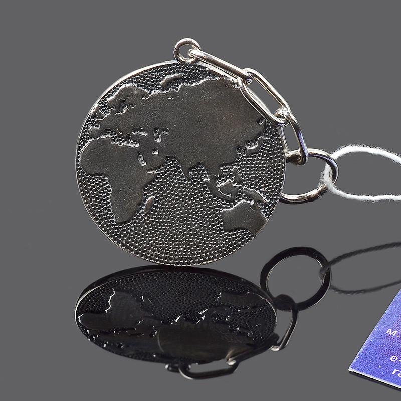 Серебряная подвеска/брелок Карта Мира